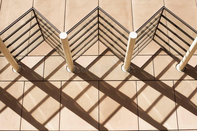 Testes padrões da sombra da arquitetura fotografia de stock royalty free