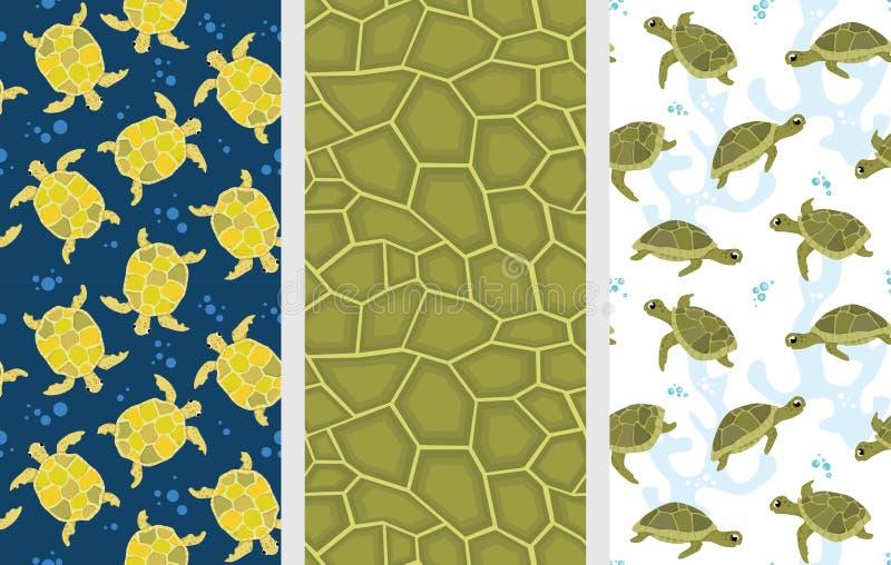 Testes padrões da tartaruga ilustração stock
