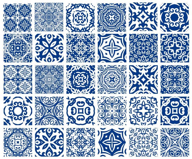 Testes padrões das telhas ajustados ilustração stock