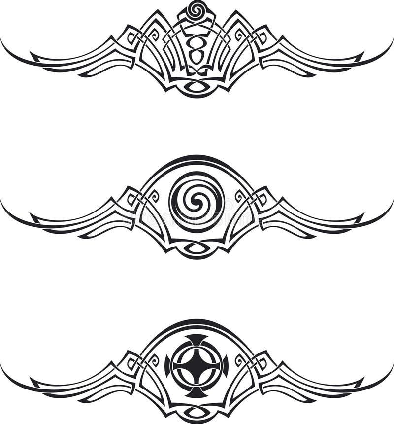 Testes padrões de estilo celta ilustração stock