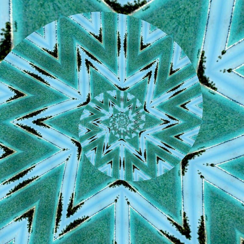 Testes padrões de pontos coloridos com textura da espiral da aquarela Gráficos abstratos do movimento na cerceta e na turquesa se ilustração stock