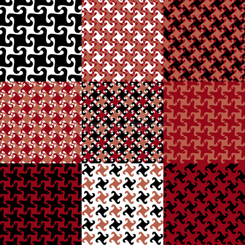 Testes padrões de Swirly ilustração stock