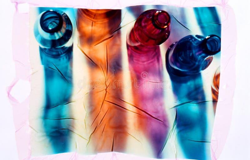 Testes padrões de vidro abstratos da sombra fotografia de stock
