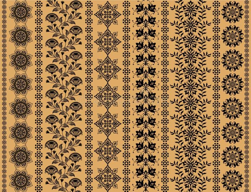 Testes padrões decorativos florais ilustração royalty free