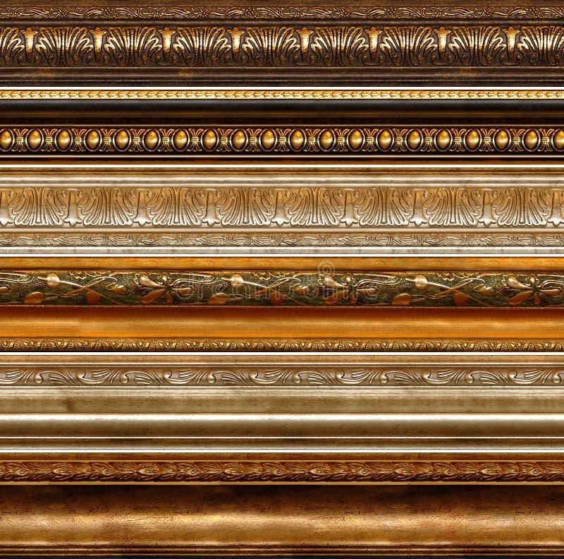 Testes padrões decorativos rústicos antigos do frame foto de stock royalty free