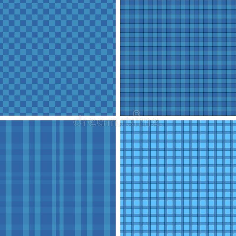 Testes padrões do azul da manta ilustração stock