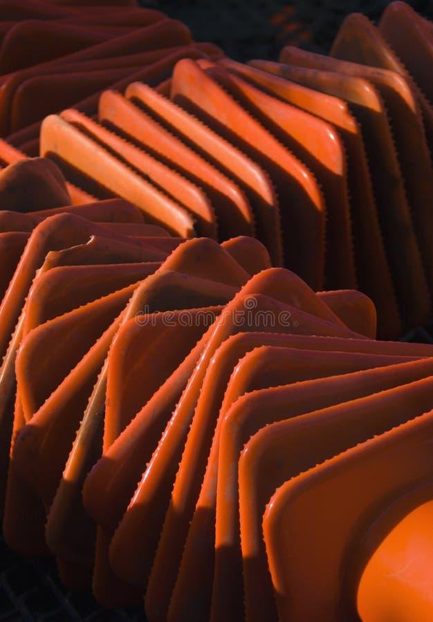 Testes padrões do cone do tráfego fotografia de stock royalty free