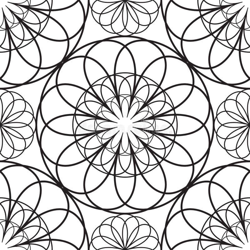 Testes padrões do estêncil ilustração do vetor