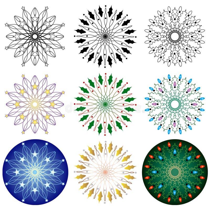 Testes padrões do feriado ilustração royalty free