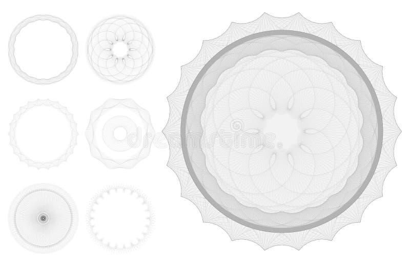 Testes padrões do Guilloche ilustração royalty free