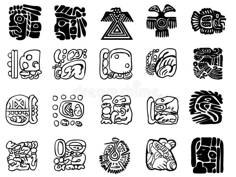 Testes padrões do Maya ilustração do vetor