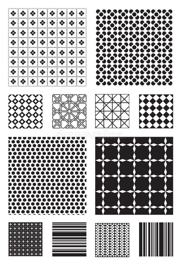 Testes padrões do vetor ilustração do vetor