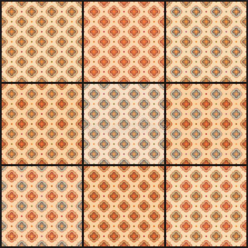 Testes padrões do vintage ilustração royalty free