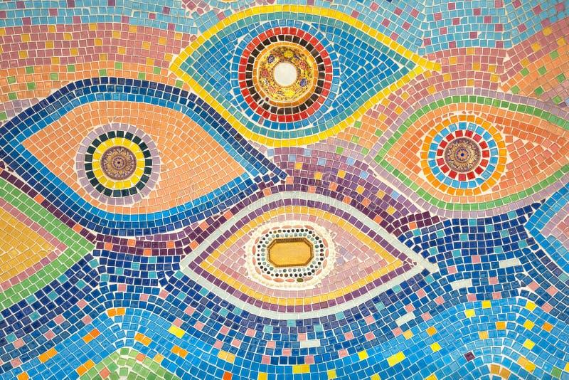 Testes padrões e cores da cerâmica fotografia de stock royalty free