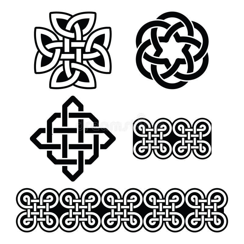 Testes padrões e nós irlandeses celtas -, o dia de St Patrick ilustração royalty free