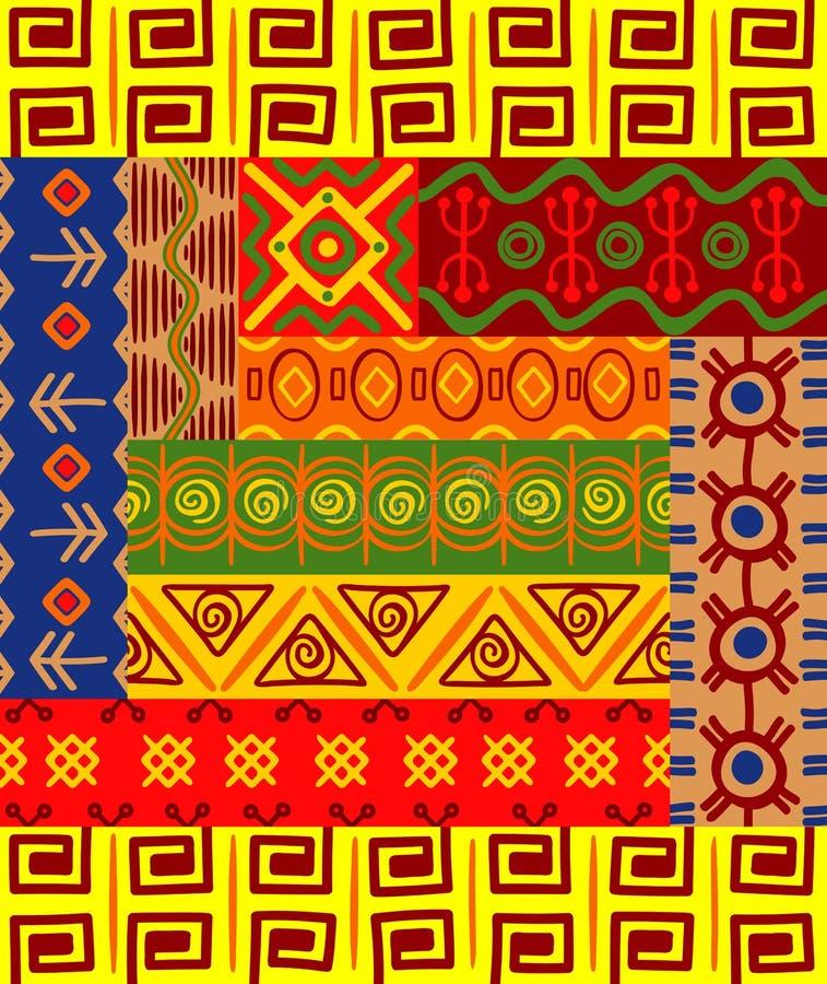 Testes padrões e ornamento africanos ilustração royalty free