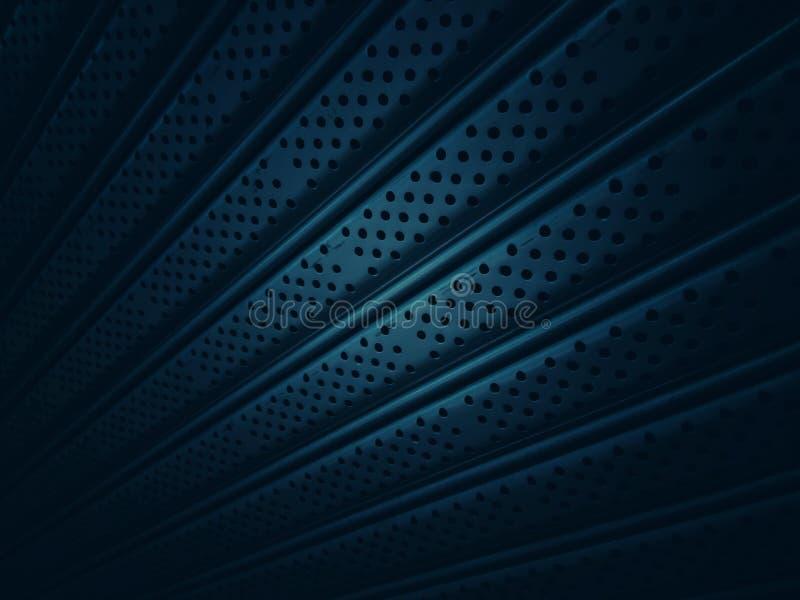 Testes padrões e texturas das portas de alumínio com muitos pontos e linhas retas foto de stock
