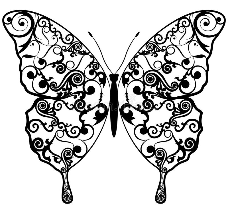 Testes padrões exóticos do sumário da borboleta. ilustração do vetor