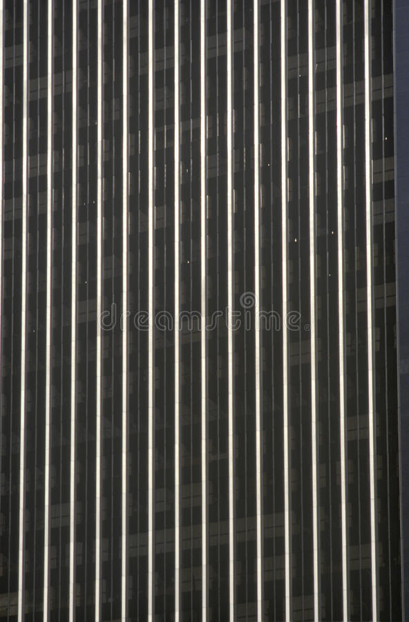 Testes padrões exteriores da janela da construção do centro de entretenimento de ABC, cidade do século, CA fotografia de stock royalty free