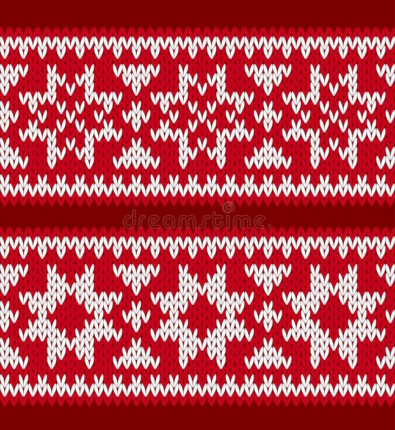 Testes padrões feitos malha com estrelas nórdicas ilustração do vetor