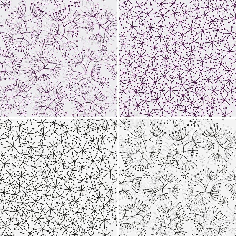 Testes padrões florais ilustração stock