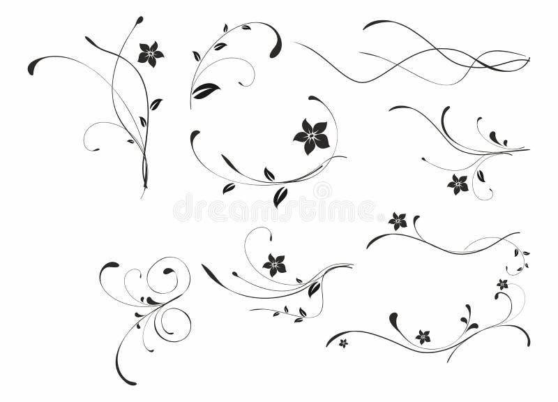 Testes padrões florais abstratos ilustração stock