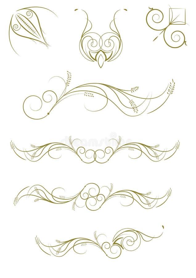 Testes padrões florais ajustados imagens de stock