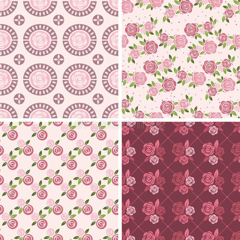 Testes padrões florais e fundos sem emenda Imprimir na tela ilustração royalty free