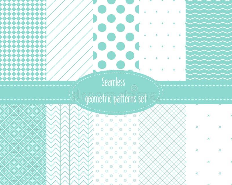 Testes padrões geométricos sem emenda ajustados ilustração do vetor