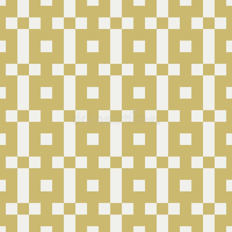 Testes padrões geométricos sem emenda com quadrados ilustração do vetor