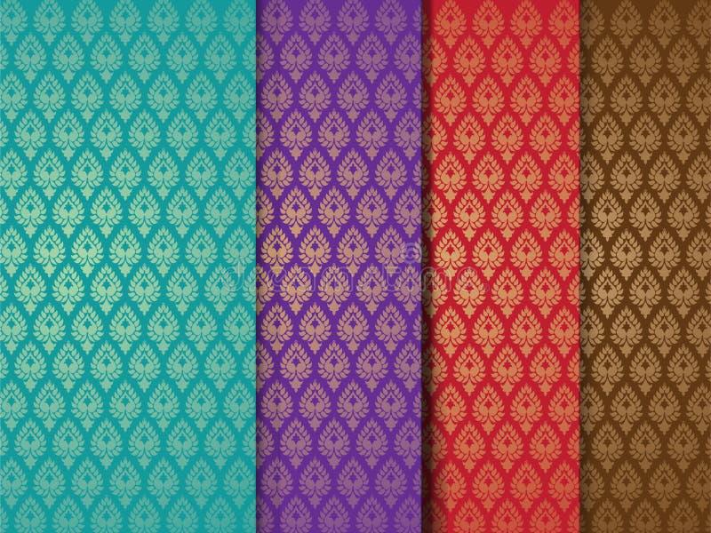 Testes padrões indianos sem emenda ilustração stock