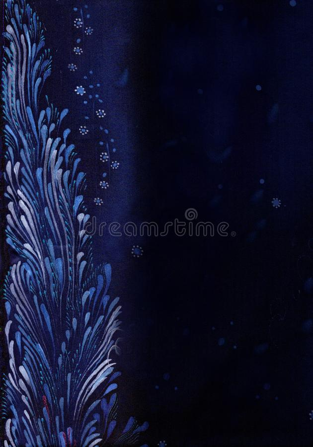 Testes padrões na seda, nas linhas, nos cursos e nos pontos Composição decorativa Teste padrão 08 Use materiais impressos, sinais ilustração stock