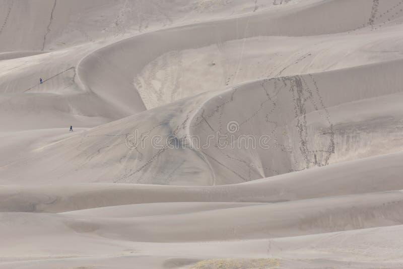 Testes padrões naturais no grande parque nacional de dunas de areia em Colorado fotos de stock