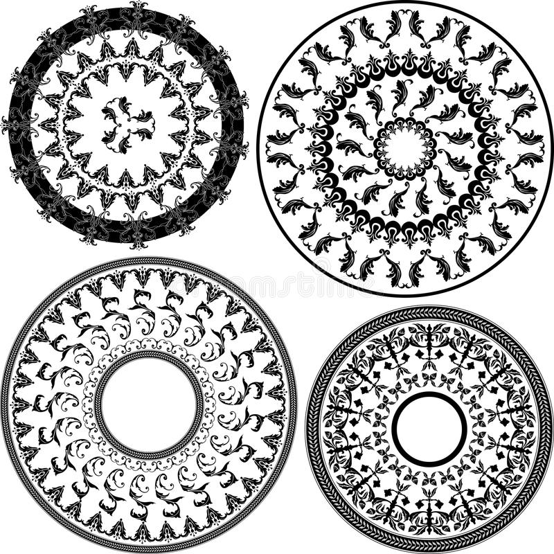 Testes padrões redondos ilustração stock