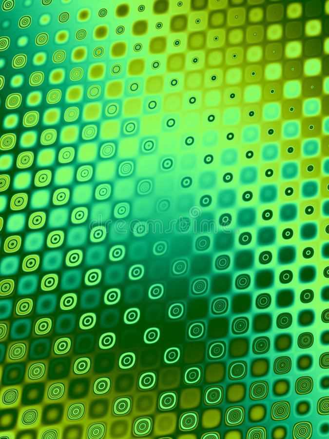 Testes padrões retros - círculos verdes ilustração do vetor