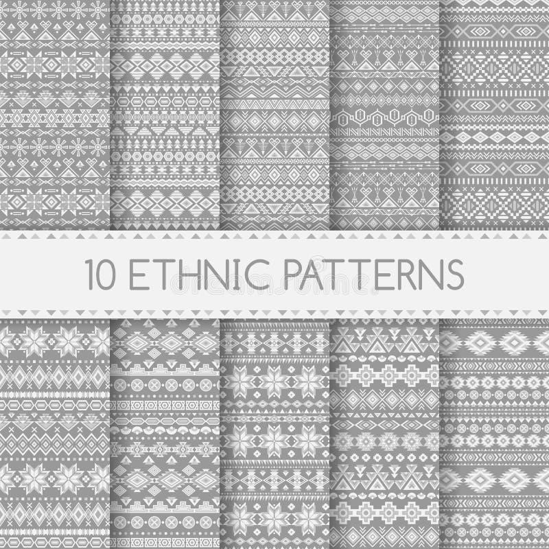 Testes padrões sem emenda étnicos ilustração stock