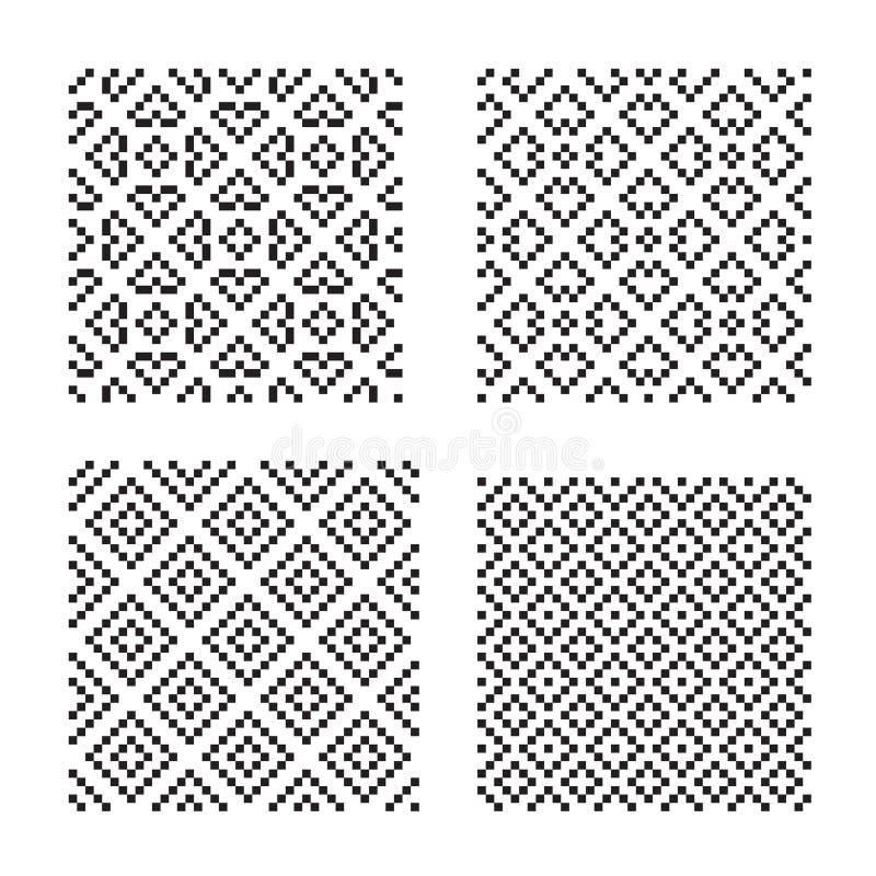 Testes padrões sem emenda ilustração do vetor