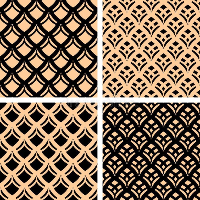 Testes padrões sem emenda ajustados. ilustração royalty free
