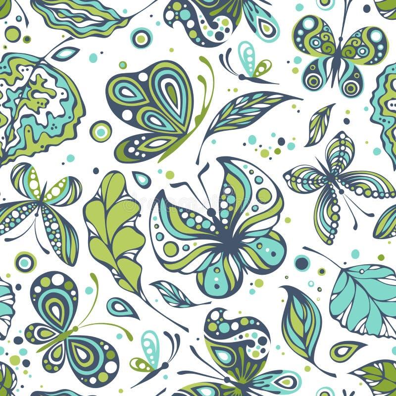 Testes padrões sem emenda com borboletas ilustração stock