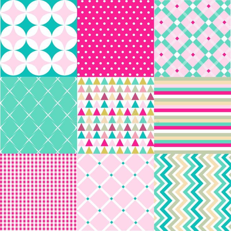 Testes padrões sem emenda com textura da tela ilustração royalty free