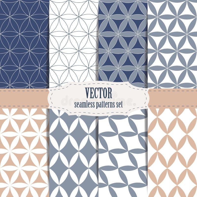Testes padrões sem emenda da geometria sagrado moderna do vetor ajustados ilustração royalty free
