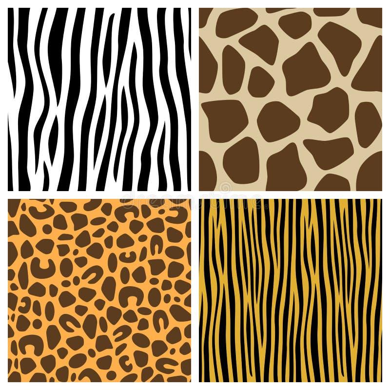 Testes padrões sem emenda da pele animal