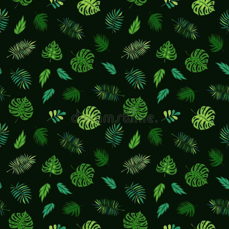 Testes padrões sem emenda da selva tropical do vetor ilustração do vetor