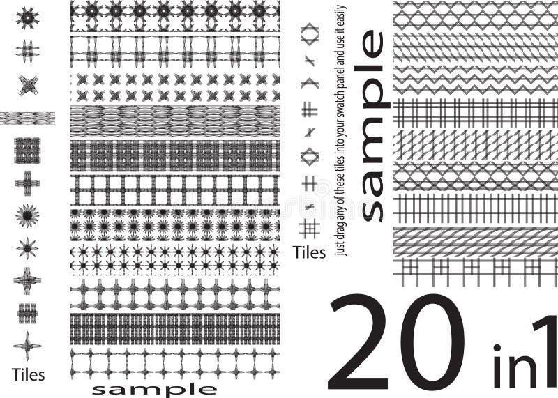 Testes padrões sem emenda das formas originais diferentes, grupo de original e ilustração stock