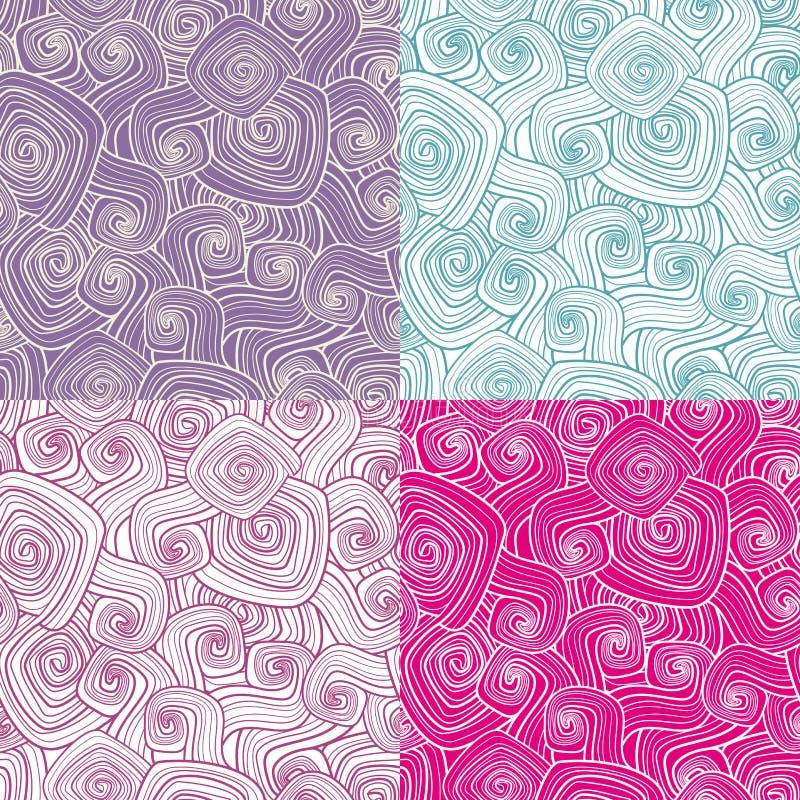 Testes padrões sem emenda decorativos ilustração stock