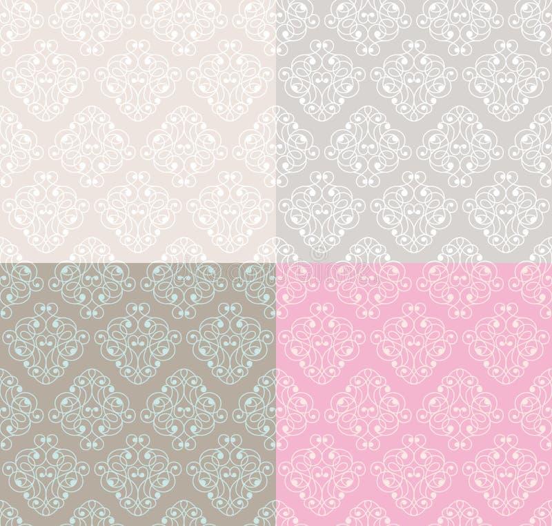 Testes padrões sem emenda decorativos ilustração royalty free