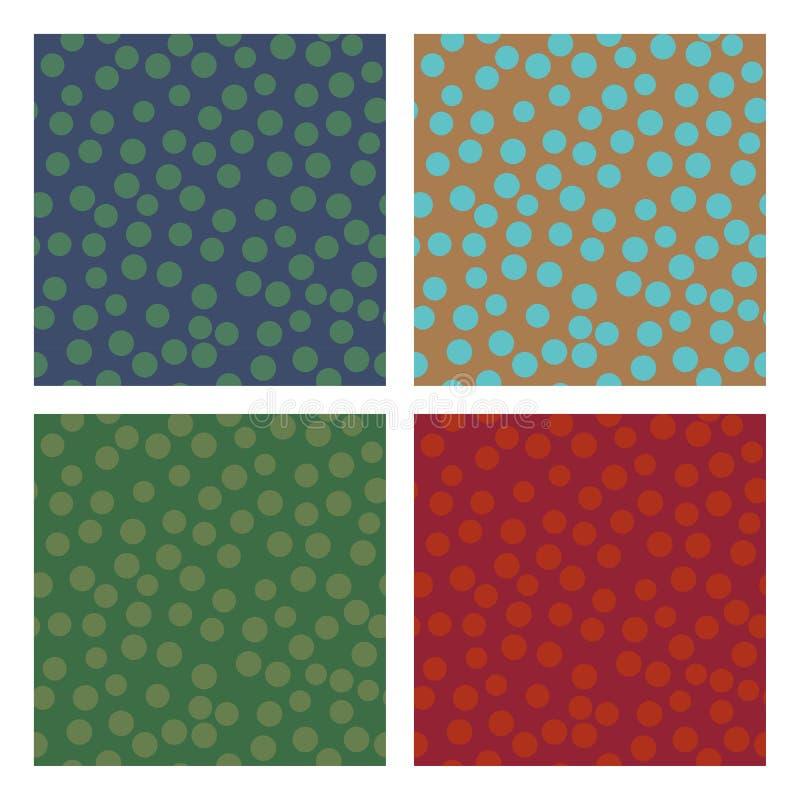 Testes padrões sem emenda do círculo geométrico ilustração do vetor