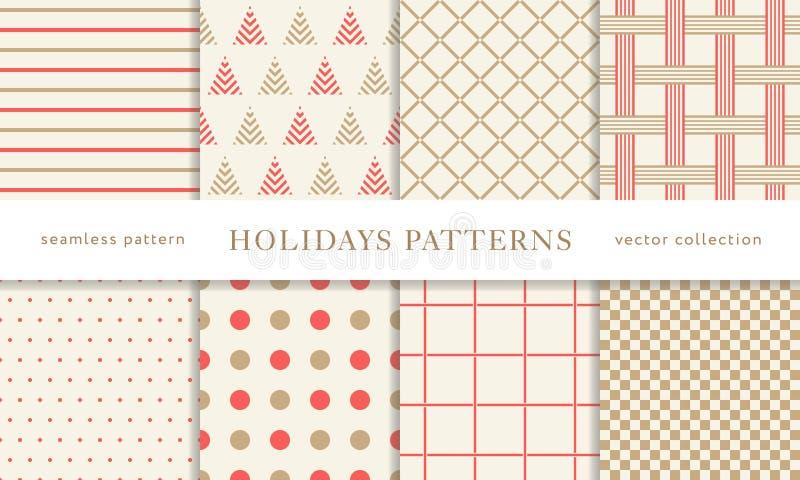 Testes padrões sem emenda dos feriados de inverno ilustração royalty free