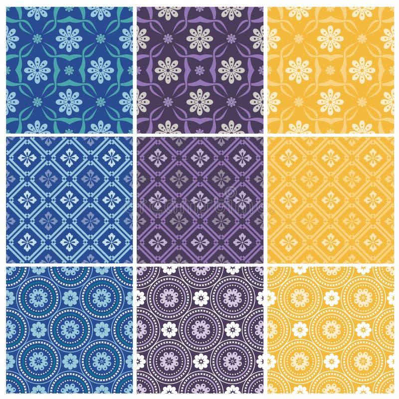 Testes padrões sem emenda elegantes ilustração royalty free