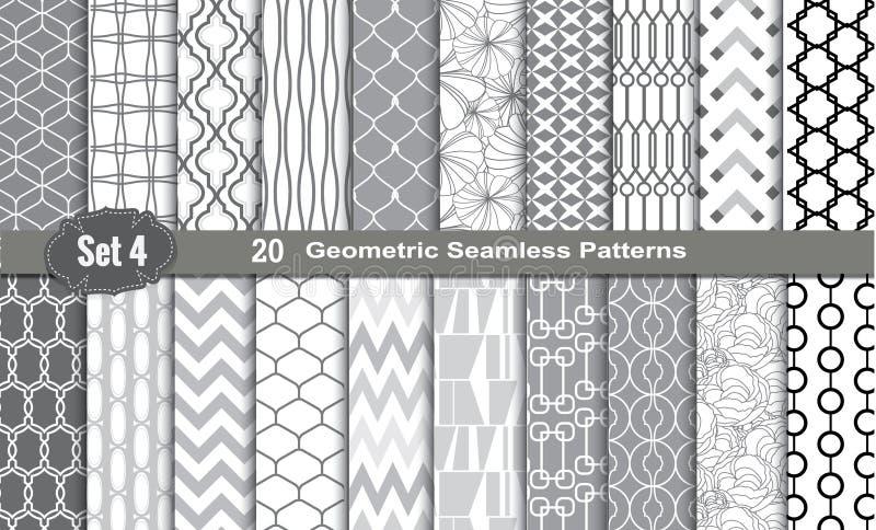Testes padrões sem emenda geométricos ilustração do vetor